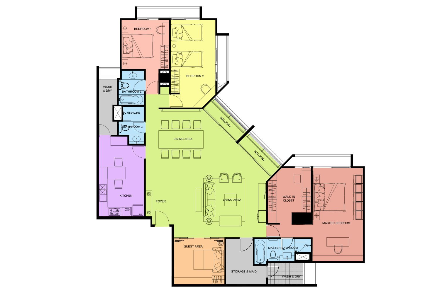 THREE - FOUR BEDROOM APARTMENT 240 SQ.M. 1